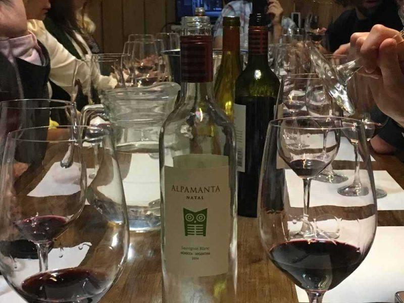 Alpamanta Bodega on the tasting table