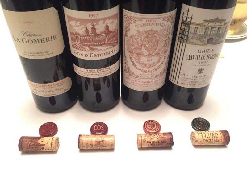 20 years ago - Bordeaux wines