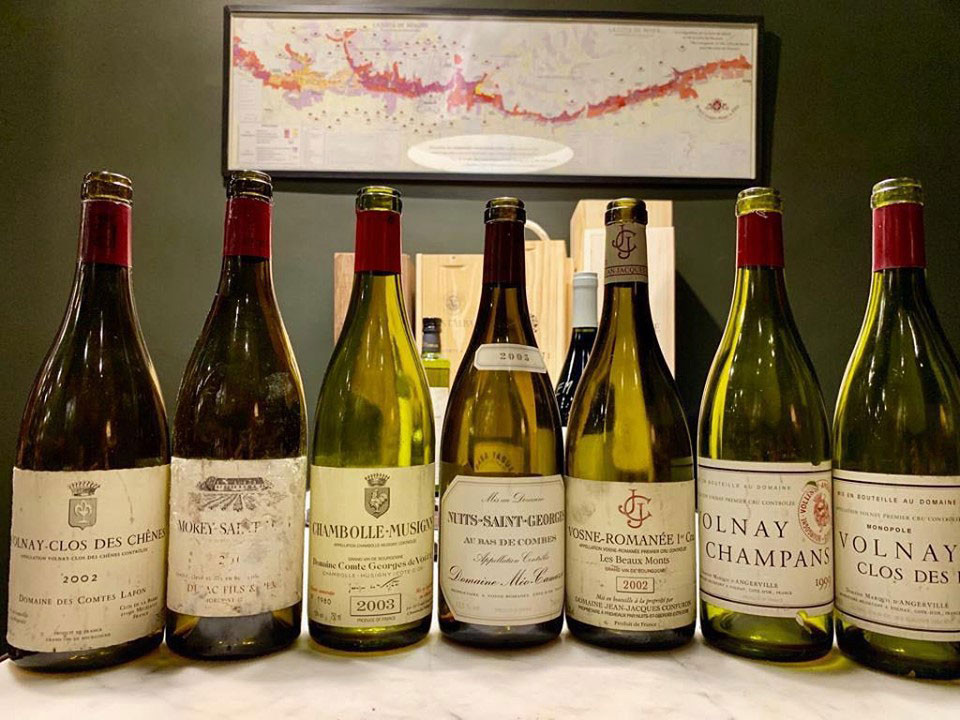 A selection of Burgundy's